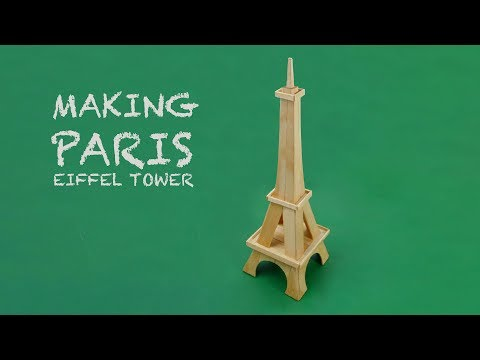 Making Eiffel Tower Paris handmade by popsicle ice-cream sticks - Art Craft 2019 .
