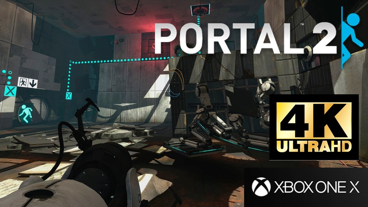 portal 2 xbox one x 4k gameplay youtube