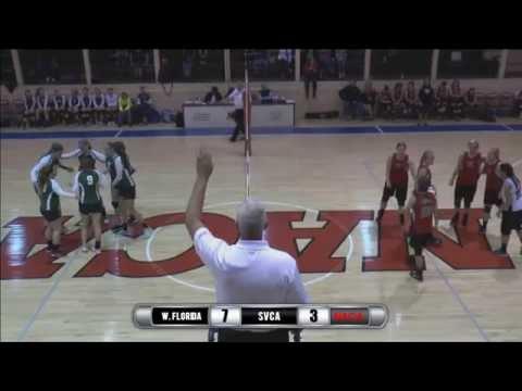 2015 NACA Volleyball - West Florida vs. Shenandoah Valley Christian Academy