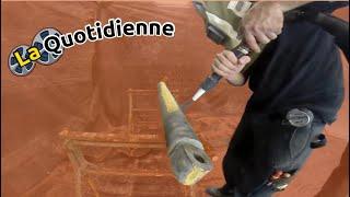La quotidienne : Vidéo client d'une restauration de grue avec une sableuse K44 PRO