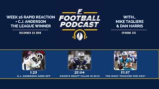 Week 16 Rapid Reaction + C.J. Anderson the League Winner (Ep. 312)
