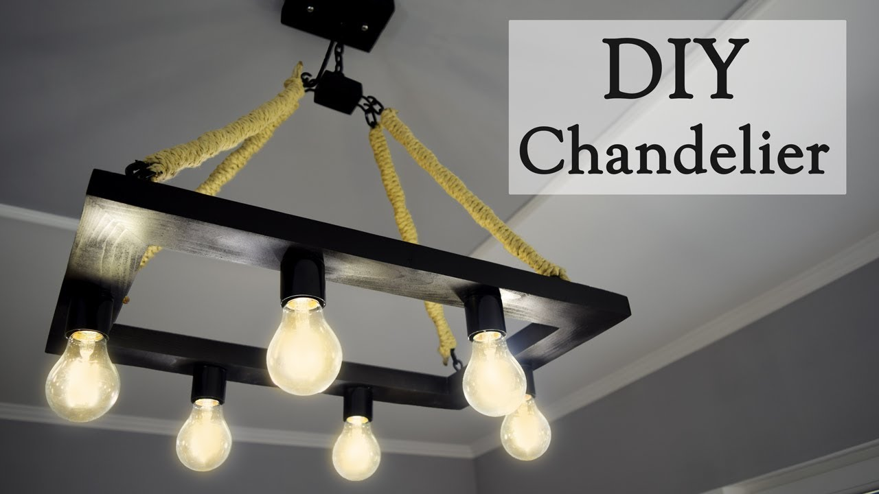 Diy industrial style hemp rope chandelier for 35 youtube diy industrial style hemp rope chandelier for 35 arubaitofo Gallery