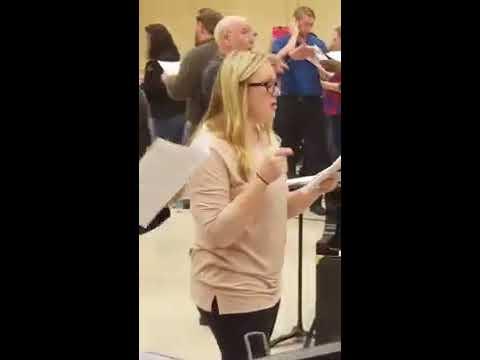 Texas Tech University Choir rehearsal 2/1/2017
