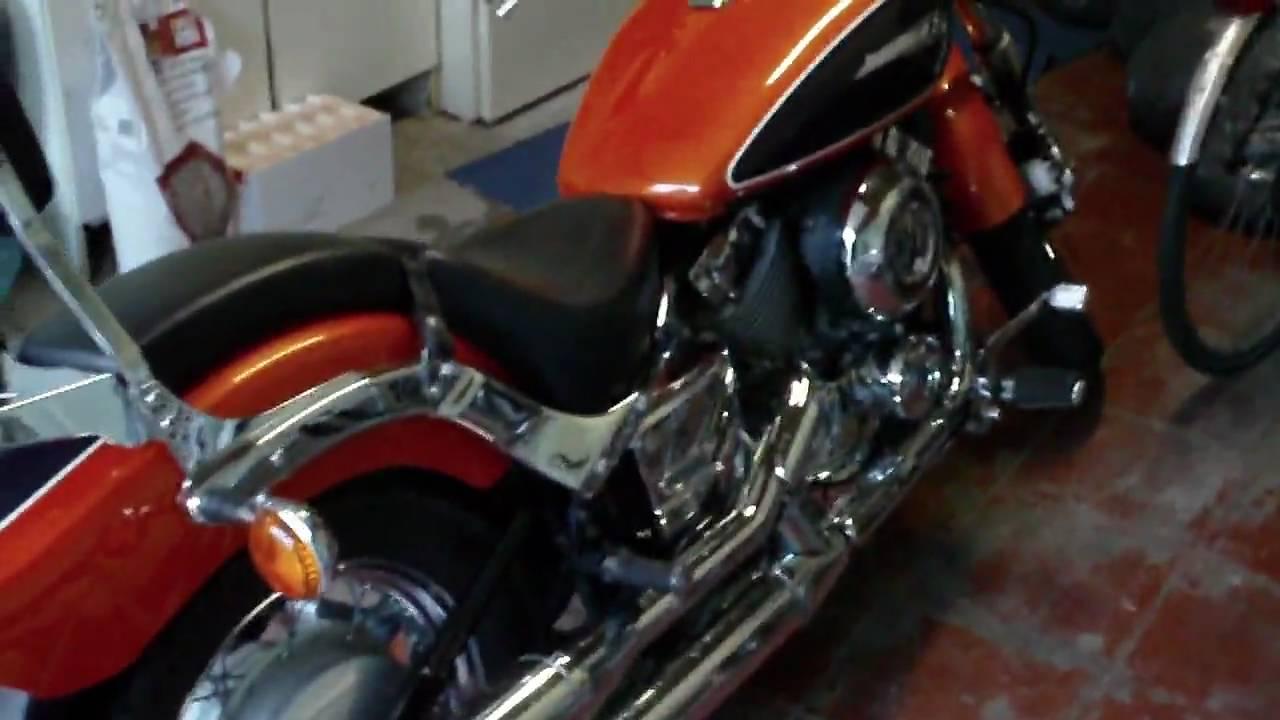 Yamaha Dragstar 650 Orange 1998 Vid 1 Youtube