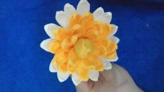как сделать хризантему- мастер класс