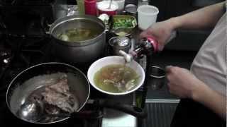 ສົ້ວໄກ່ Chicken Soup, Lao Style