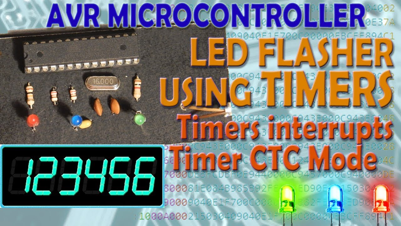 AVR Microcontroller  LEDs Flasher Using Timer  Timers Interrupts