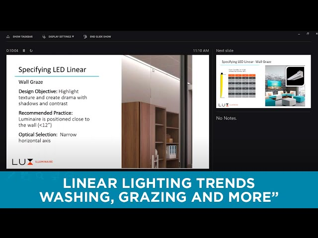 Linear Lighting Trends   Washing, Grazing and More by Lux Illuminaire