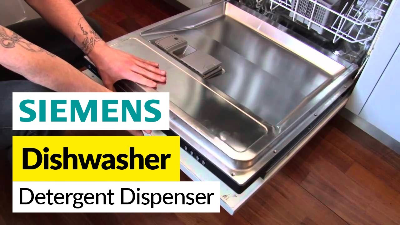 how to replace the detergent dispenser in a siemens dishwasher youtube. Black Bedroom Furniture Sets. Home Design Ideas