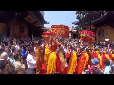 Monks Parade - Jade Buddha Temple, Shanghai - July 2016