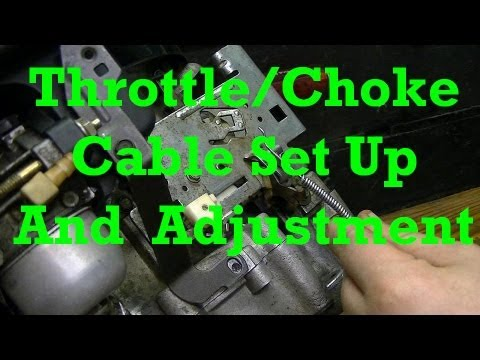 How to Set Up and Adjust Throttle and Choke Cables on Small Engines  YouTube