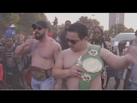 Englishmen Defeat Congolese Wrestlers In Mini-tournament