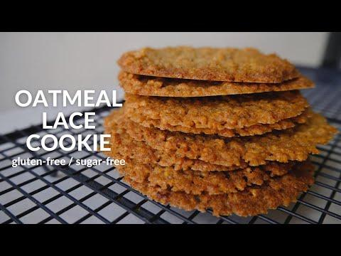 Oatmeal Lace Cookie (gluten-free, sugar-free)