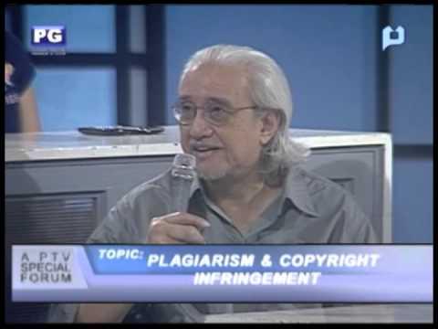 Part 1: Plagiarism & Copyright Infringement - PTV Special Forum [Nov. 23, 2012]