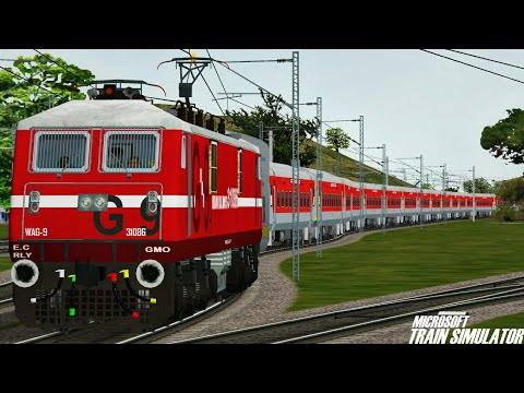 Bhubaneswar - New Delhi Rajdhani Express || GMO WAG9H || MSTS Open Rails Journey Part 1