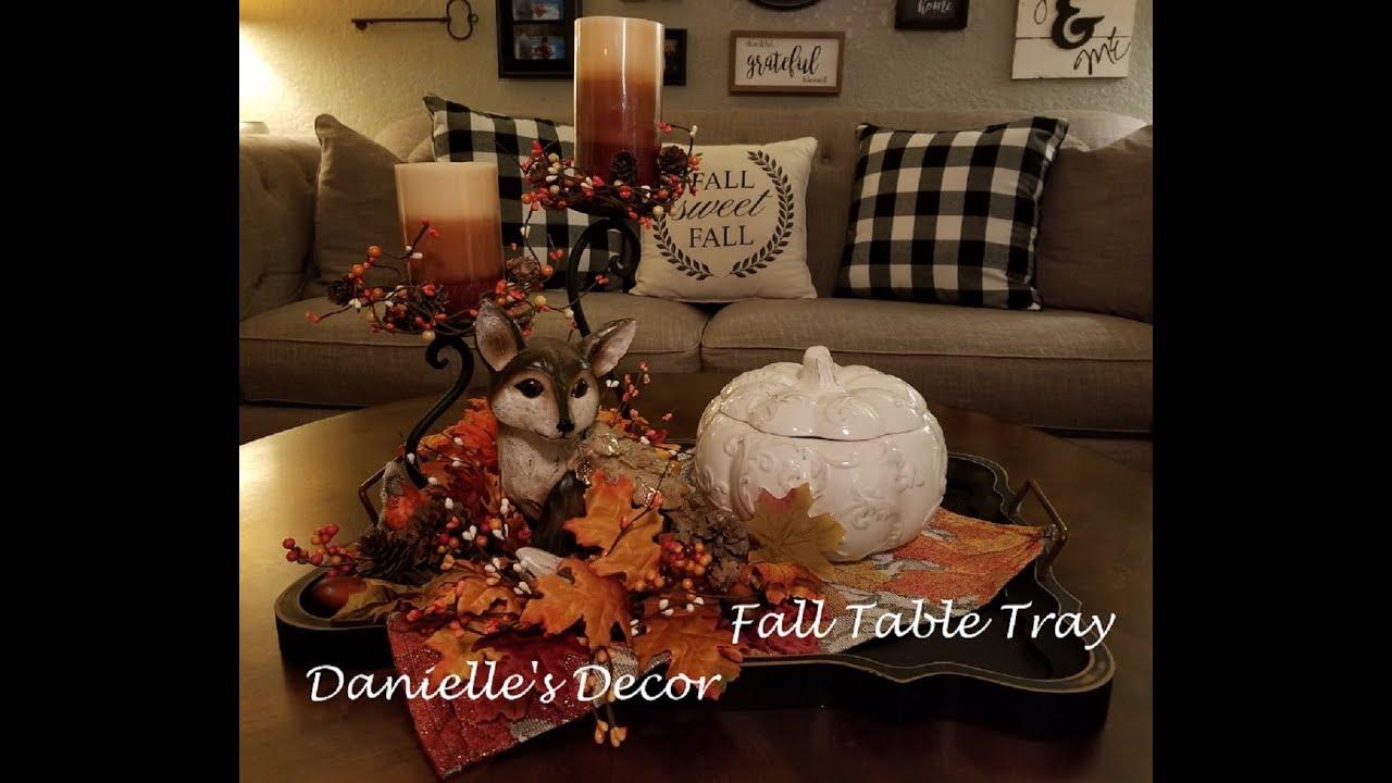 fall coffee table tray decor