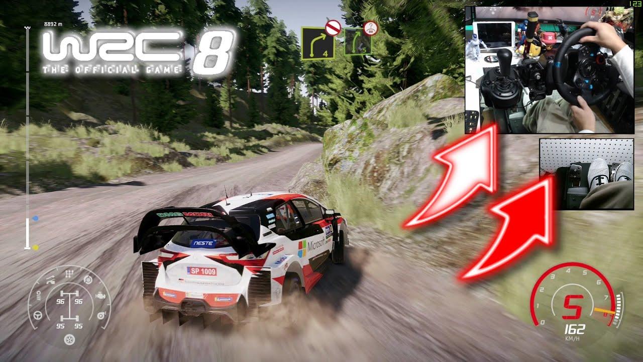 Download WRC 8 Toyota Yaris WRC Finland Ouninpohja / Logitech G29 Foot cam