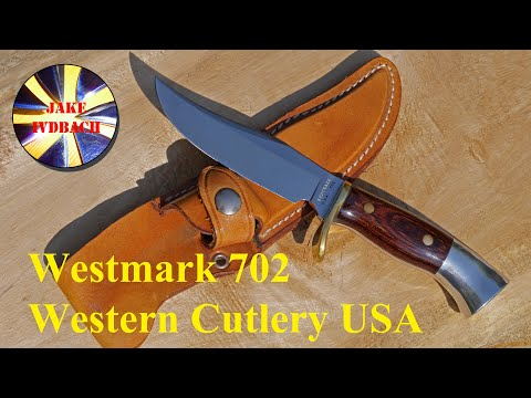 Westmark 702 Vintage Bowie-Style-Sheath-Knife Western Cutlery Collector Sammlermesser 70' Sheath