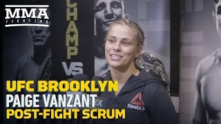 UFC Brooklyn: Paige VanZant Says Rachael Ostovich Even Making Fight Was 'Huge Triumph'