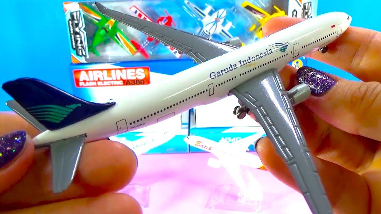 UNBOXING BEST PLANES: A380 330 321 340 Boeing 787 737 777  Indonesia Batik Lufthansa Turkish models