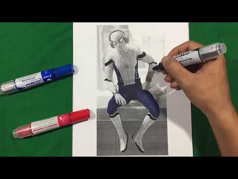 SPIDERMAN HOMECOMING LISTEN TO MUSIC Coloring Pages SAILANY Coloring Kids