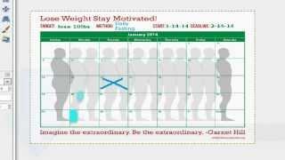 Weight Loss Goal Calendar Day 1 - Reach Your Weight Loss Goals!