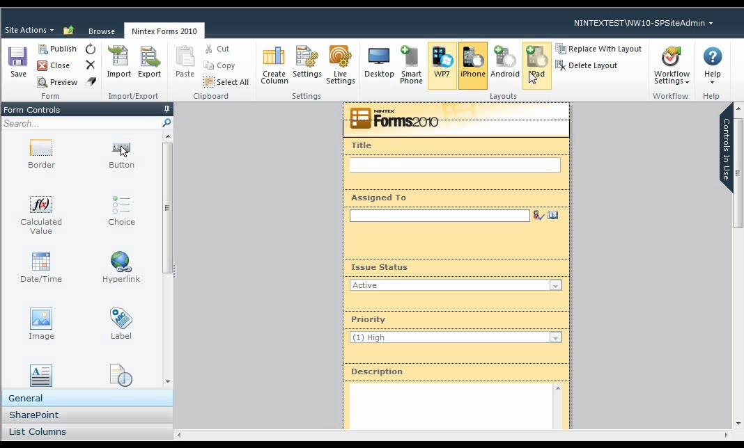 Creating a Simple List Form with Nintex Forms for SharePoint