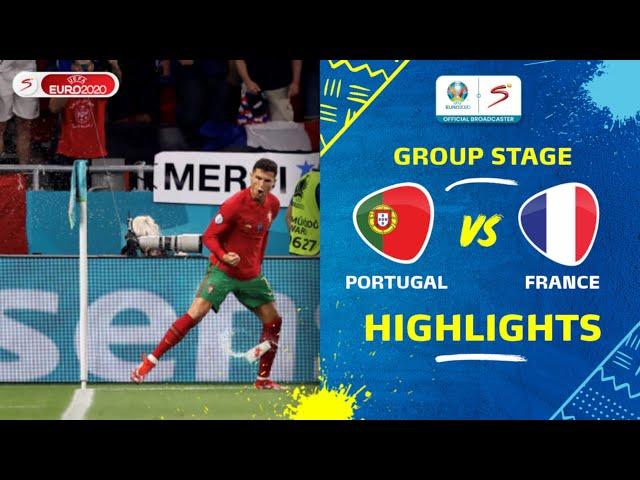 UEFA Euro 2020 | Group F | Portugal v France | Highlights