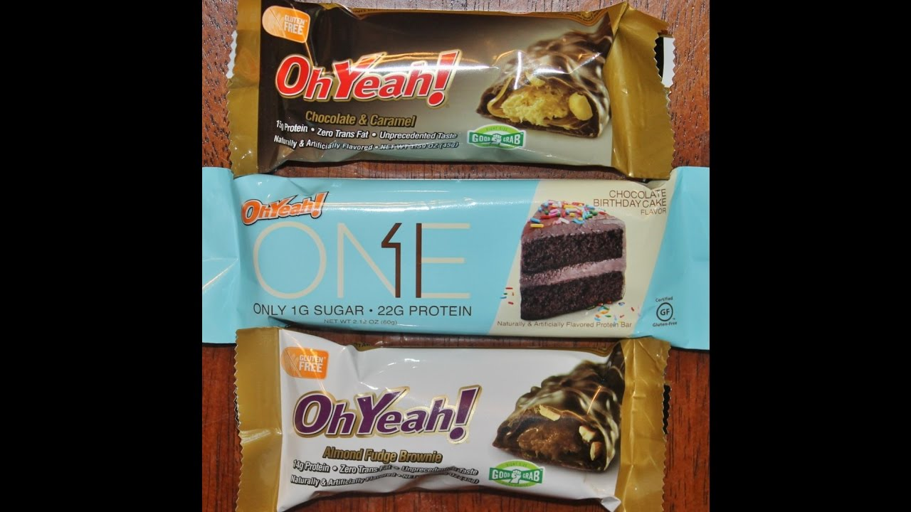 Oh Yeah ONE Chocolate Birthday Cake Caramel And Almond Fudge Brownie Review