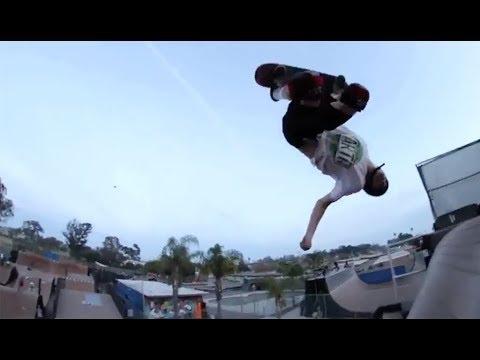INSTABLAST! - GAINER To CAVEMAN!?!! MACBA Madness!! Switch 360 Double Flip Santa Monica Triple Set!!