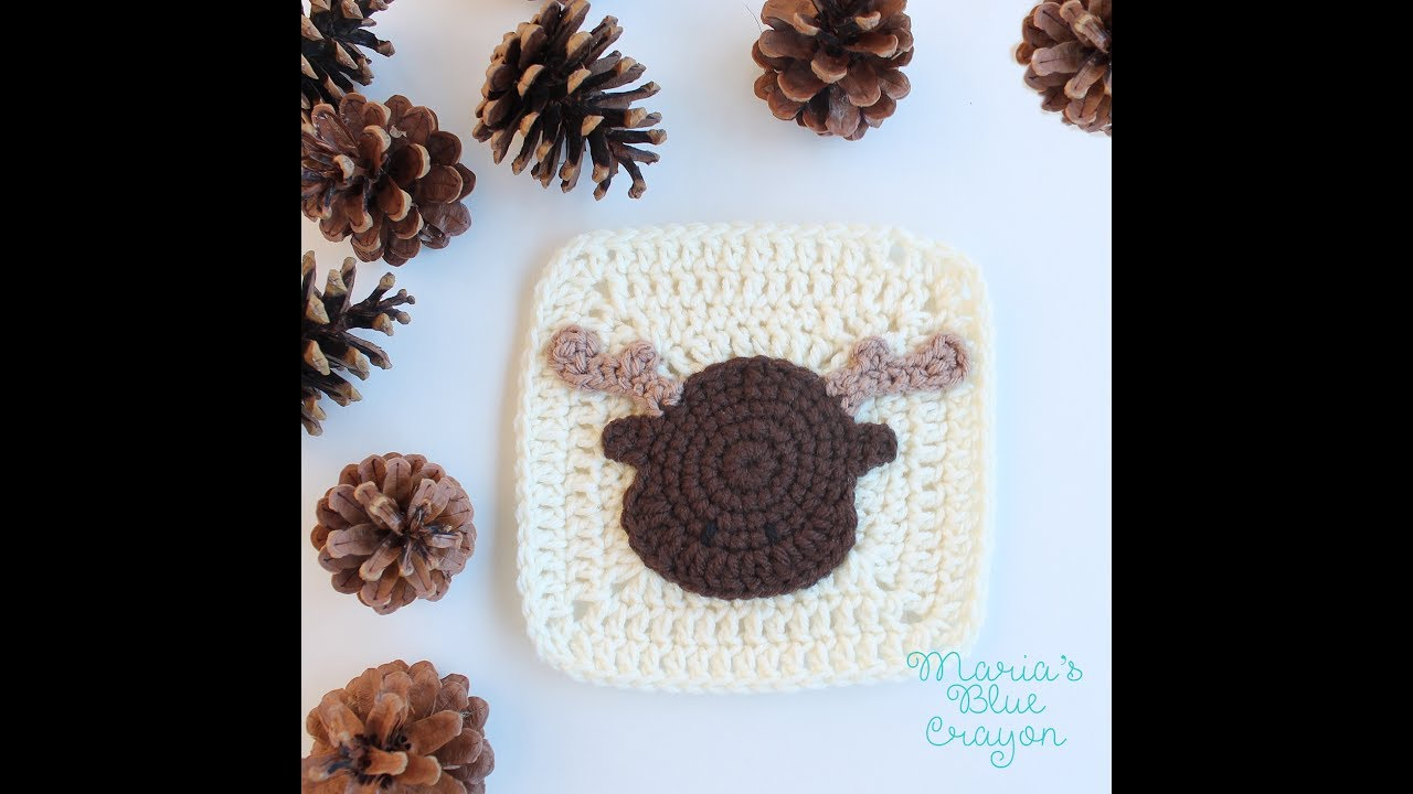 Woodland moose applique crochet tutorial youtube