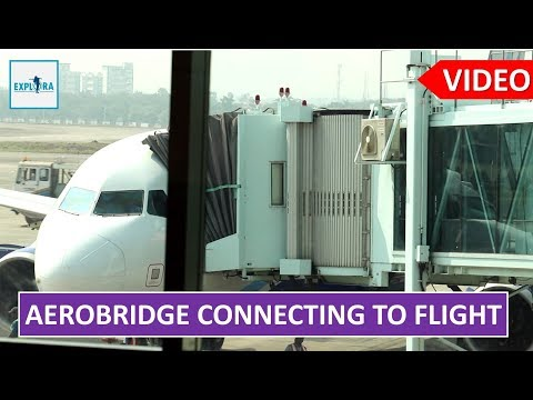 Aerobridge Connecting To Aircraft Full Video