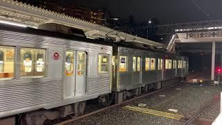 【2020年3月運用離脱】東急8500系 8623F 雨の中空転しながら長津田駅発車