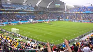 Himno Nacional Mexicano - Mexico vs Camerun - Mundial 2014