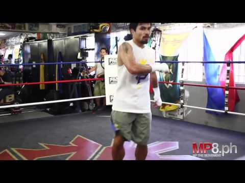 Manny Pacquiao - Always Good form even in 100+ Degree LA Weather