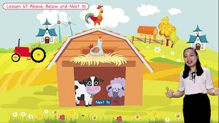 Math For Kids   Lesson 47. Above, Below and Next to - Location for Kids   Grade K