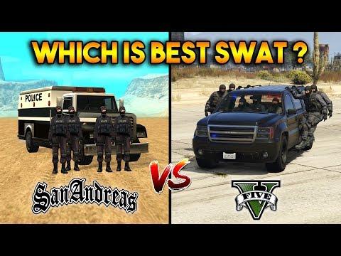 GTA 5 SWAT VS SAN ANDREAS SWAT : WHICH IS BEST?