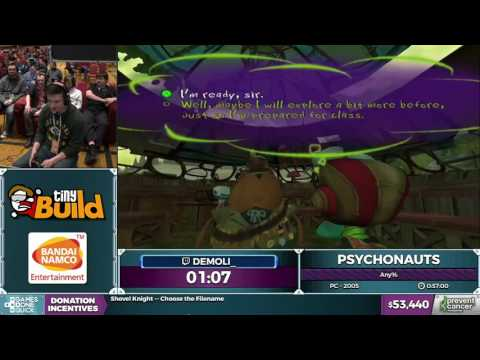 Psychonauts by demoli in 53:32 - AGDQ 2017 - Part 4