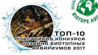 Топ-10 | Конкурс дизайна биотопных аквариумов 2017 | BADC 2017