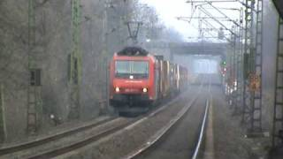 Schweizer Cargo RE 482 mit Intermodalzug bei Bonn Villich Müldorf Richtung Koblenz