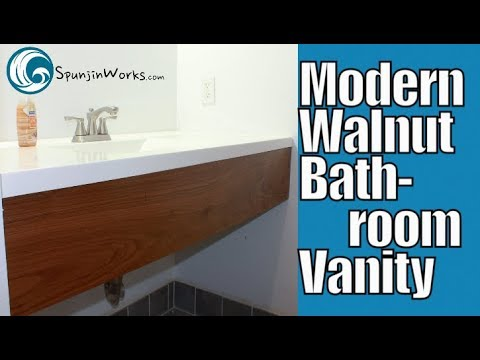 Seamless Modern Walnut Vanity // How-To (Ep. 79)