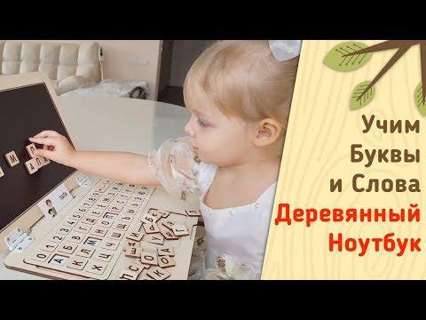 Дошкольное развитие ребенка. Игра для изучения букв и слов. Ноутбу - алфавит от Raduga Kids.