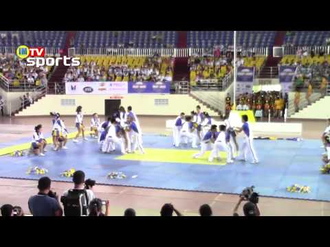 Ateneo Golden Cavalry / Ateneo de Naga University - 1st Regional Cheer & Dance Competition Travel Video