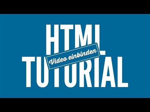 YouTube Video Einbinden - HTML Tutorial • [German] [HD]