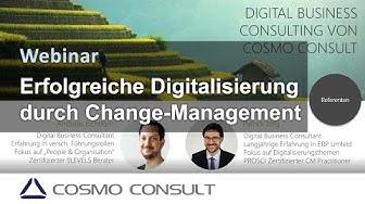 Webinar: Faktor Mensch – Erfolgreiche Digitalisierung durch Change-Management