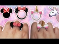? Tutorial: Anillos DIY de Mickey/Minnie Mouse y Unicornio CUTE ?
