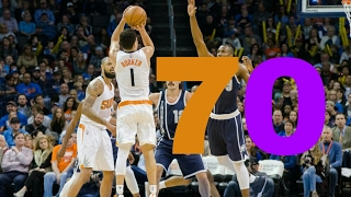 devin booker scores 70 points in one game the youngest in history