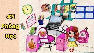 Giới thiệu và hướng dẫn làm NGÔI NHÀ BÚP BÊ ✏️bằng giấy P5 (PHÒNG HỌC) - Paper Doll House