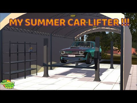 My Summer Car Awesome Car Lifter Crusher Mod Youtube