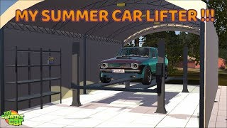 MY SUMMER CAR - AWESOME CAR LIFTER / CRUSHER MOD !